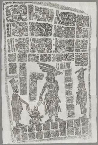ink rubbings from Maya temple from the Stanford University Archaeology Center