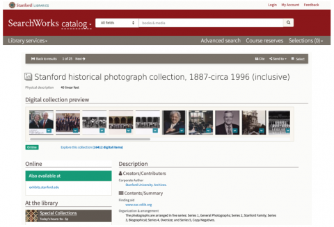 SearchWorks collection record screen shot for 4769498