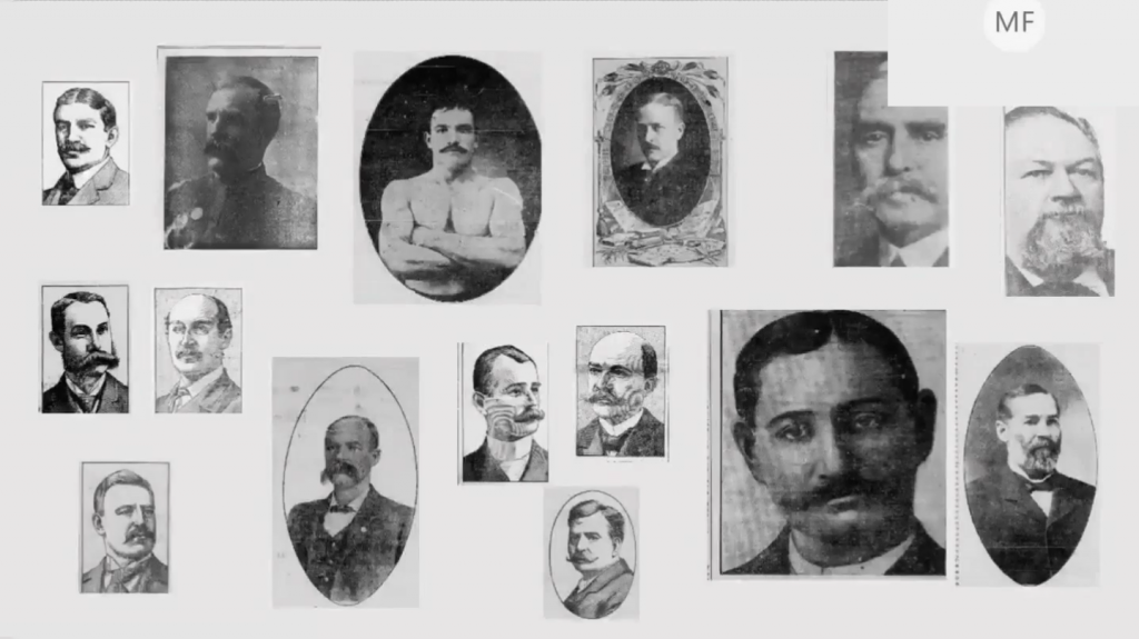 """A """"gallery of moustaches"""" created by Newspaper Navigator data jam participant Mary Feeney"""