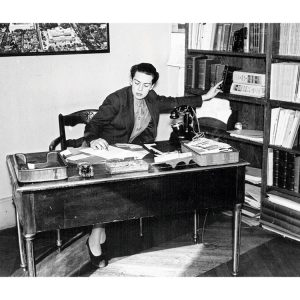 Dorothy Reeder, director of the library, in her office in 1937.