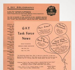 """Publications from the Task Force on Gay Liberation include the June1971 version of and the July 1974 edition of <em></noscript>Gay Task Force News.</em>"""" width=""""300″ height=""""279″ srcset=""""https://temilib.nasniconsultants.com/wp-content/uploads/2020/06/the-rainbows-arc-5.jpg 300w, https://temilib.nasniconsultants.com/wp-content/uploads/2020/06/the-rainbows-arc-16.jpg 377w"""" sizes=""""(max-width: 300px) 100vw, 300px""""></p> <p></noscript><img   alt="""