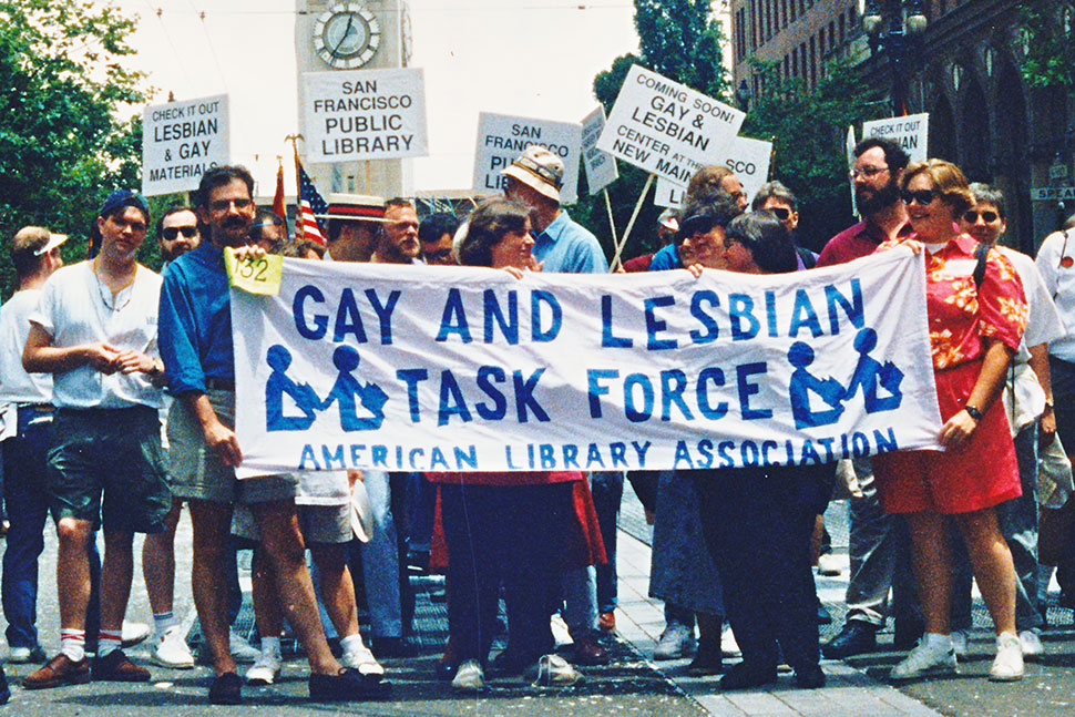 The ALA Gay and Lesbian Task Force marching in the 1992 SanFrancisco Pride parade.