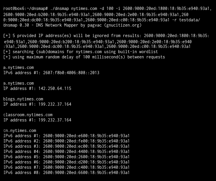 Limit for IP addresses