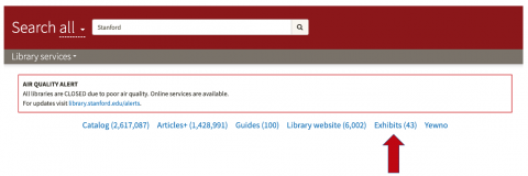 Search all from library.stanford.edu