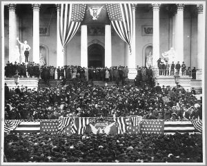 Crowd in front of Capitol - Cleveland's 2nd inauguration