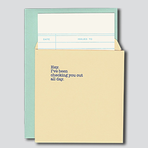 Checking You Out greeting card
