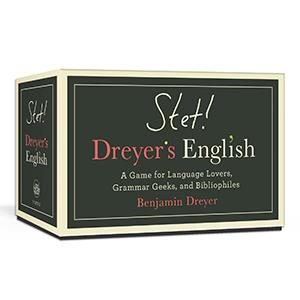 Box of STET! Dreyer's English card game