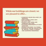 Library closure sign