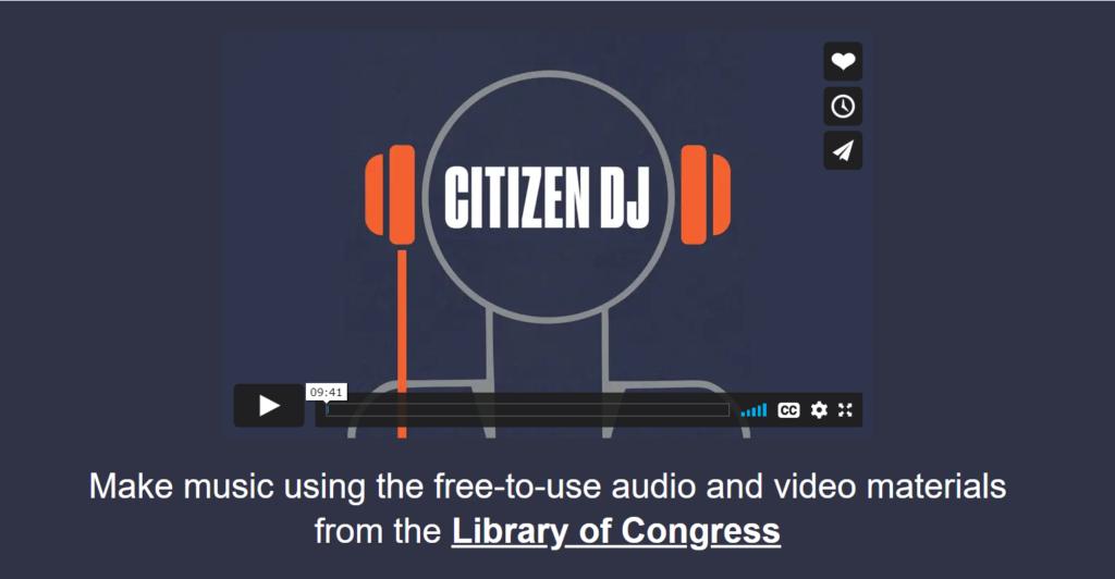 Screenshot of Citizen DJ