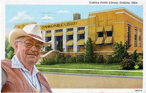 Robert J. Conley's Literary Landmark is located at Cushing (Okla.) Public Library. Photo of Conley by Ashley Evans/Western Carolina University