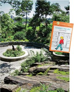 A Literary Landmark for Louise Fitzhugh is located at Carl Schurz Park in New York City
