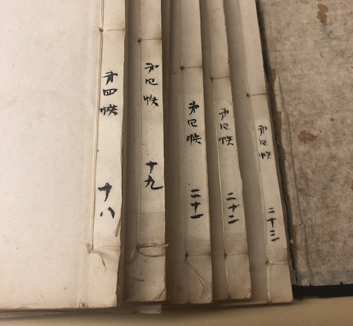 Chinese rare books with threaded binding