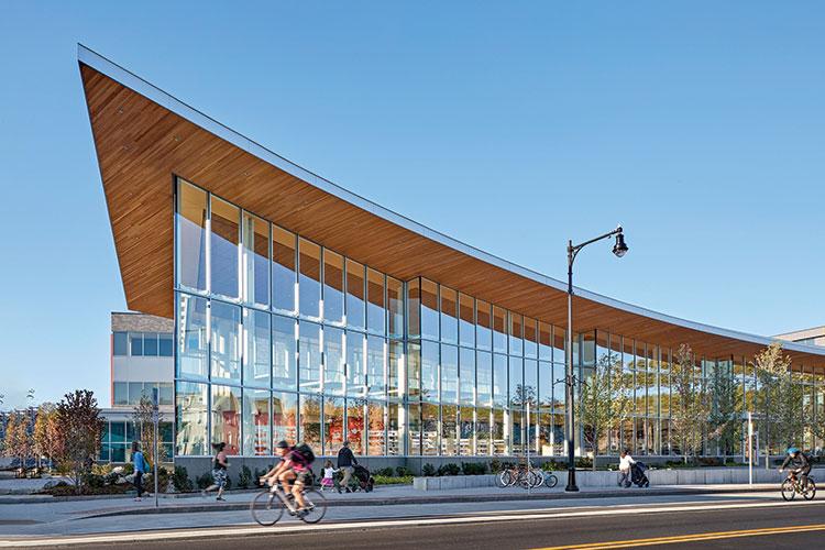 Cambridge (Mass.) Public Library, Valente branch Architect: William Rawn Associates, Architects Inc. Photo: Robert Benson Photography