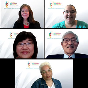 JCLC's board of directors, clockwise from top left: Alexandra Rivera, vice president; Heather Devine-Hardy, secretary; Kenneth Yamashita, president; Gladys Smiley Bell, director at large; and Dora Ho, treasurer