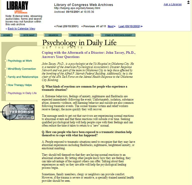 Psychology in Daily Life was quick to post topical content related to how to cope with trauma.